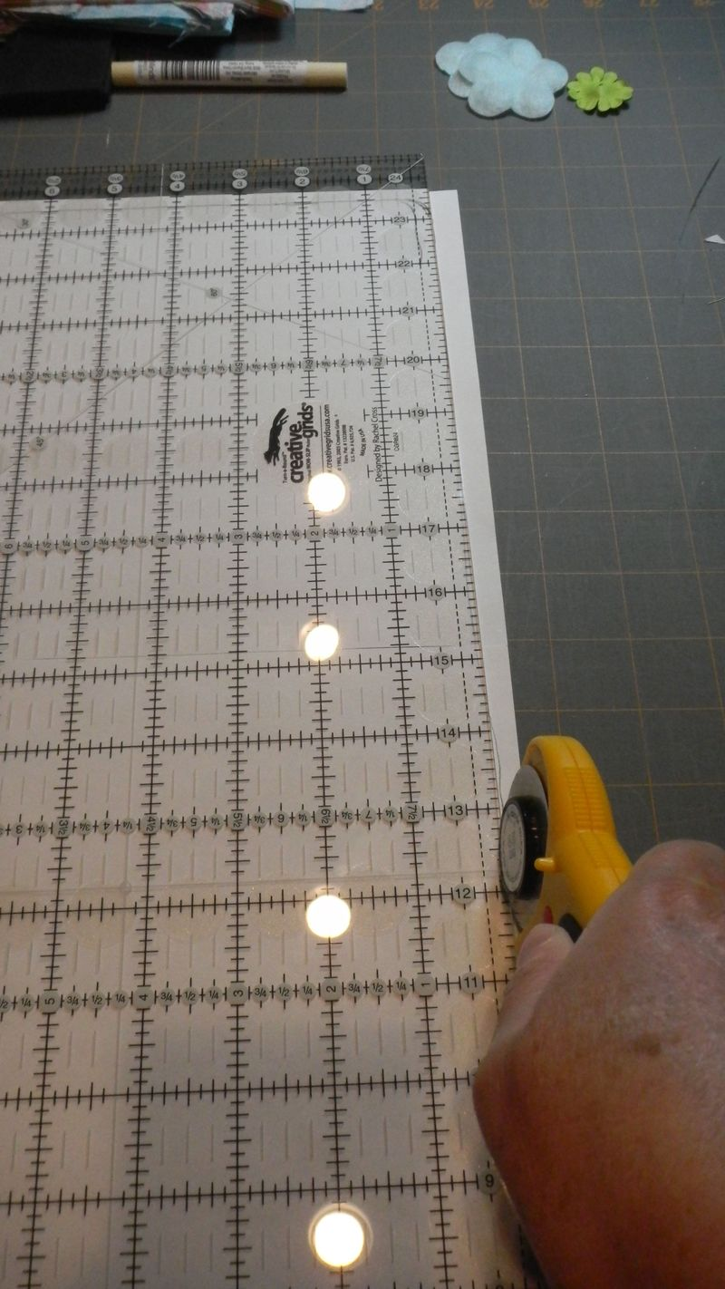 35 Use acrylic ruler to trim off edges