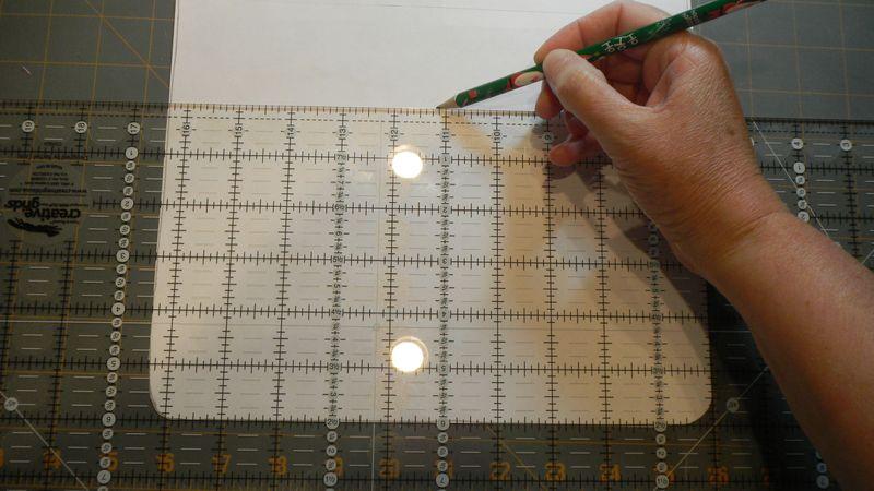 39 Draw seam line on pattern
